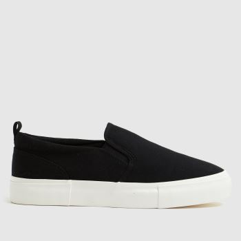 schuh Black Megan Slip On Womens Trainers