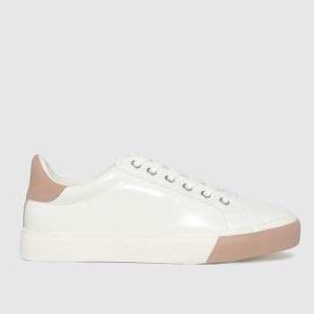 schuh White & Pink Marni Lace Up Womens Trainers