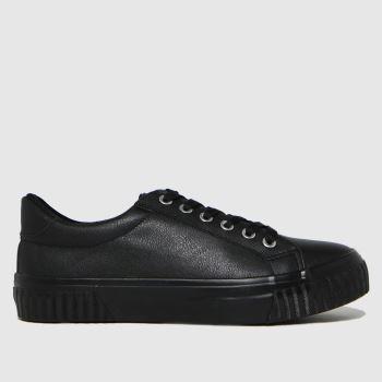 schuh Schwarz Maddie Lace Up Damen Sneaker