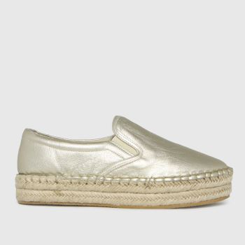 schuh Gold Madeline Slip On Espadrille Womens Trainers