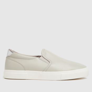 schuh Grey Mallory Slip On Womens Trainers