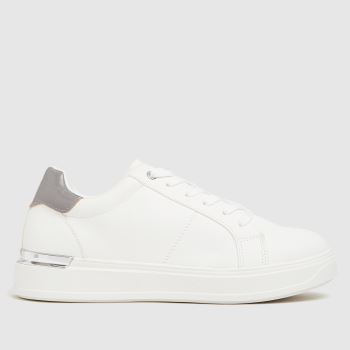 schuh White & grey Marilyn Lace Up Womens Trainers