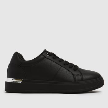 schuh Black Marilyn Lace Up Trainers