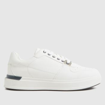 schuh White Mimi Lace Up Hardware Womens Trainers