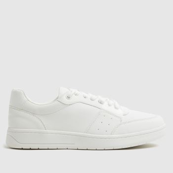 schuh White Mari Lace Up Court Trainer Womens Trainers