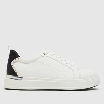 schuh White Noa Lace Up Womens Trainers