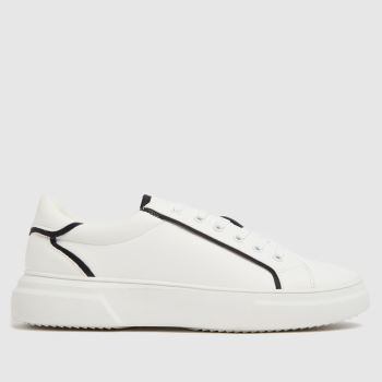schuh White Nikita Lace Up Womens Trainers