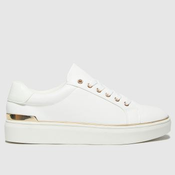 schuh White Misha Lace Up Womens Trainers