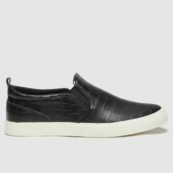 schuh Black Meg Slip On Womens Trainers