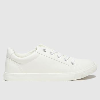 schuh White Molly Lace Up Womens Trainers