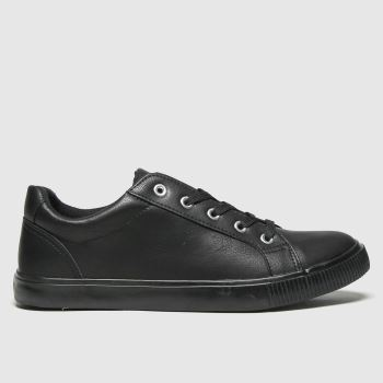 schuh Black Molly Lace Up Trainer Womens Trainers