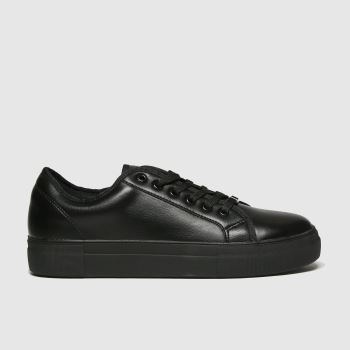 schuh black forever black lace up trainers