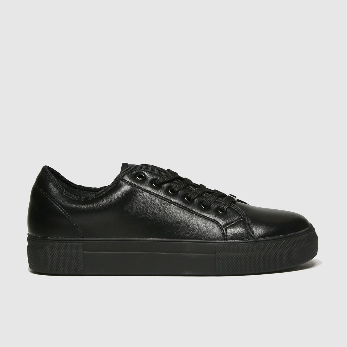 schuh Schuh Black Forever Black Lace Up Trainers
