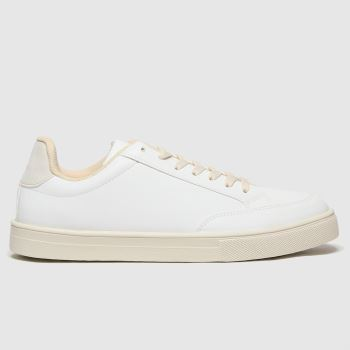schuh White Mason Lace Up Womens Trainers