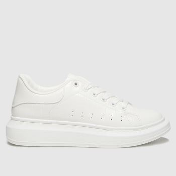 schuh White Breezy Croc Lace Up Womens Trainers