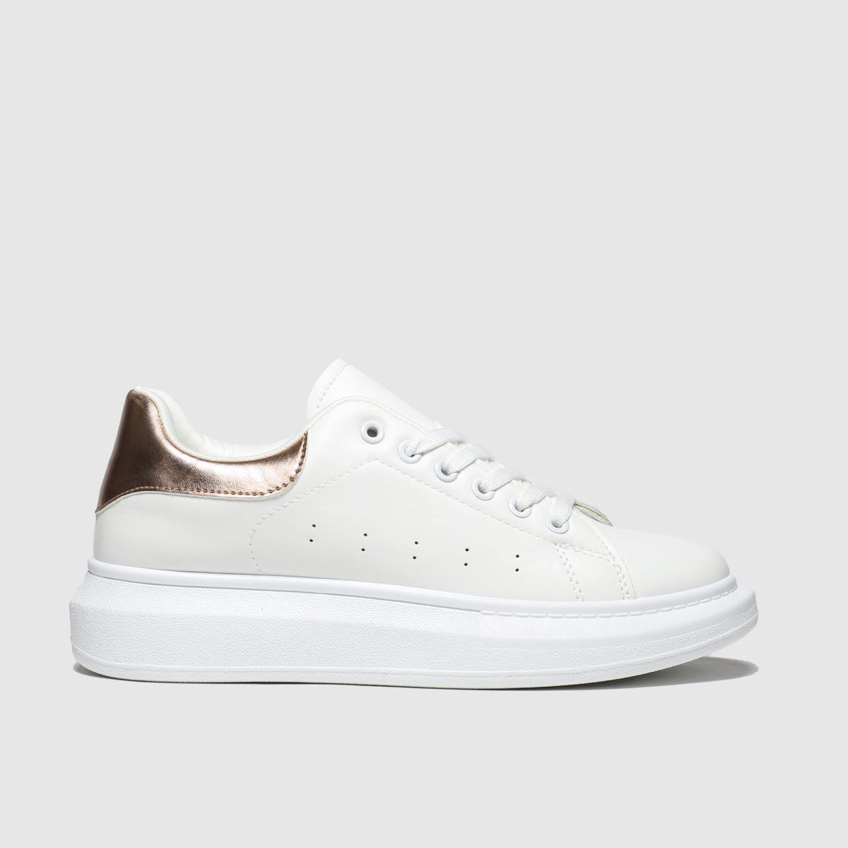 schuh Schuh White Breezy Lace Up Trainer Trainers