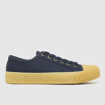 schuh Navy Mia Canvas Lace Up Womens Trainers