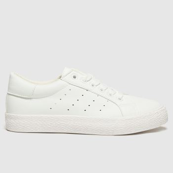 schuh White Remix Lace Up Womens Trainers