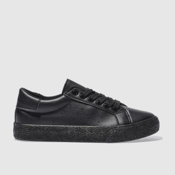 schuh Black Remix Lace Up Womens Trainers