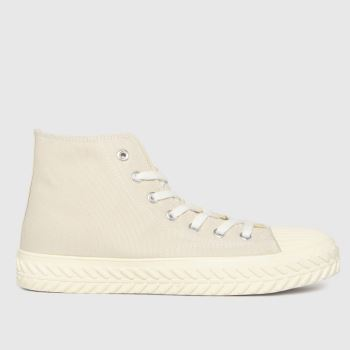 schuh Natural Mckenna Hi Top Lace Up Womens Trainers