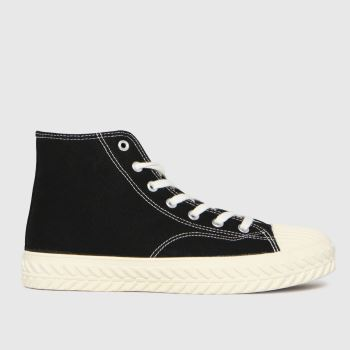 schuh Black Mckenna Hi Top Lace Up Womens Trainers