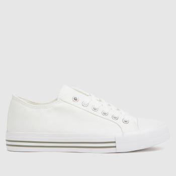 schuh White Mercy Lace Up Womens Trainers