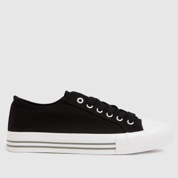 schuh Black Mercy Lace Up Womens Trainers