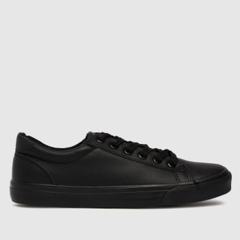 schuh Black Millie Lace Up Womens Trainers