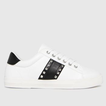 schuh White Melissa Stud Detail Womens Trainers