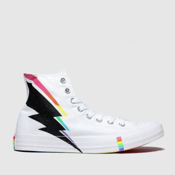 Converse White & Black All Star Pride Hi Womens Trainers