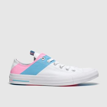Converse White & Pink All Star Pride Ox Womens Trainers