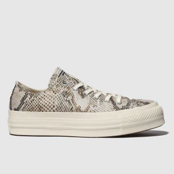 Converse Naturfarben All Star Snake Lift Ox Damen Sneaker