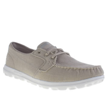 Womens Skechers On The Go Mist Trainers Taupe