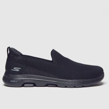 Skechers Black Go Walk 5 Prized Trainers