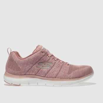 Skechers Pale Pink Flex Appeal 2.0 High Energy Womens Trainers