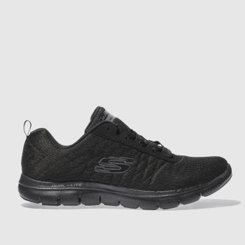 Skechers Black Flex Appeal 2.0 Break Free Womens Trainers