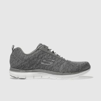Skechers Grey Flex Appeal 2.0 Womens Trainers