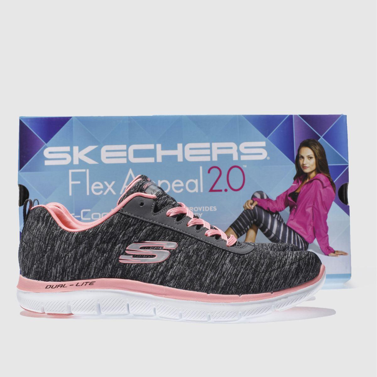 Damen Dunkelgrau skechers Flex schuh Appeal 2-0 Sneaker | schuh Flex Gute Qualität beliebte Schuhe 44310f
