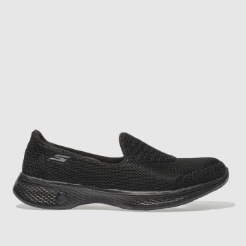 Skechers Black Go Walk 4 Womens Trainers