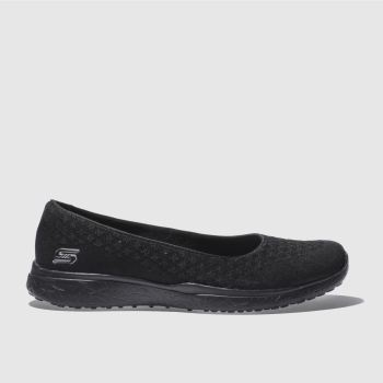 Skechers Black Microburst One-Up Womens Trainers