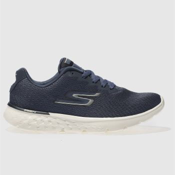 SKECHERS NAVY GO RUN 400 SOLE TRAINERS