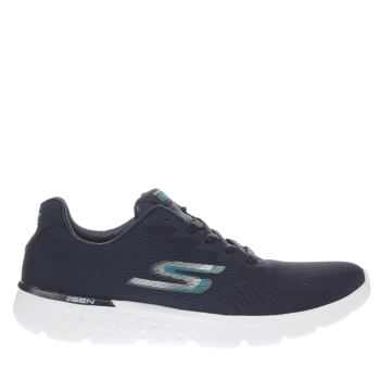 SKECHERS NAVY & WHITE GO RUN 400 TRAINERS