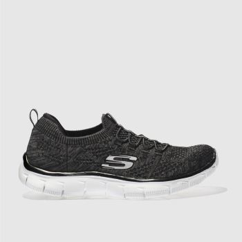 Skechers Black & White Empire Sharp Thinking Womens Trainers