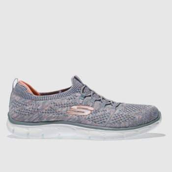 Skechers Grey Empire Sharp Thinking Womens Trainers