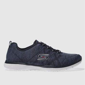 Skechers Navy & White MICROBURST ON-THE-EDGE Trainers