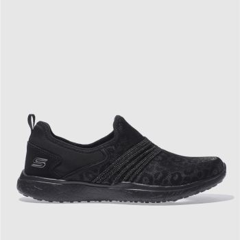 SKECHERS BLACK MICROBURST UNDER WRAPS TRAINERS