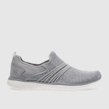 Skechers Grey Microburst Under Wraps Womens Trainers