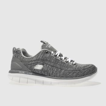 SKECHERS GREY SKECH SYNERGY 2.0 TRAINERS