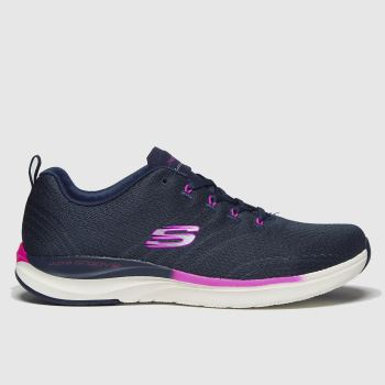 SKECHERS Navy Ultra Groove Pure Vision Womens Trainers#