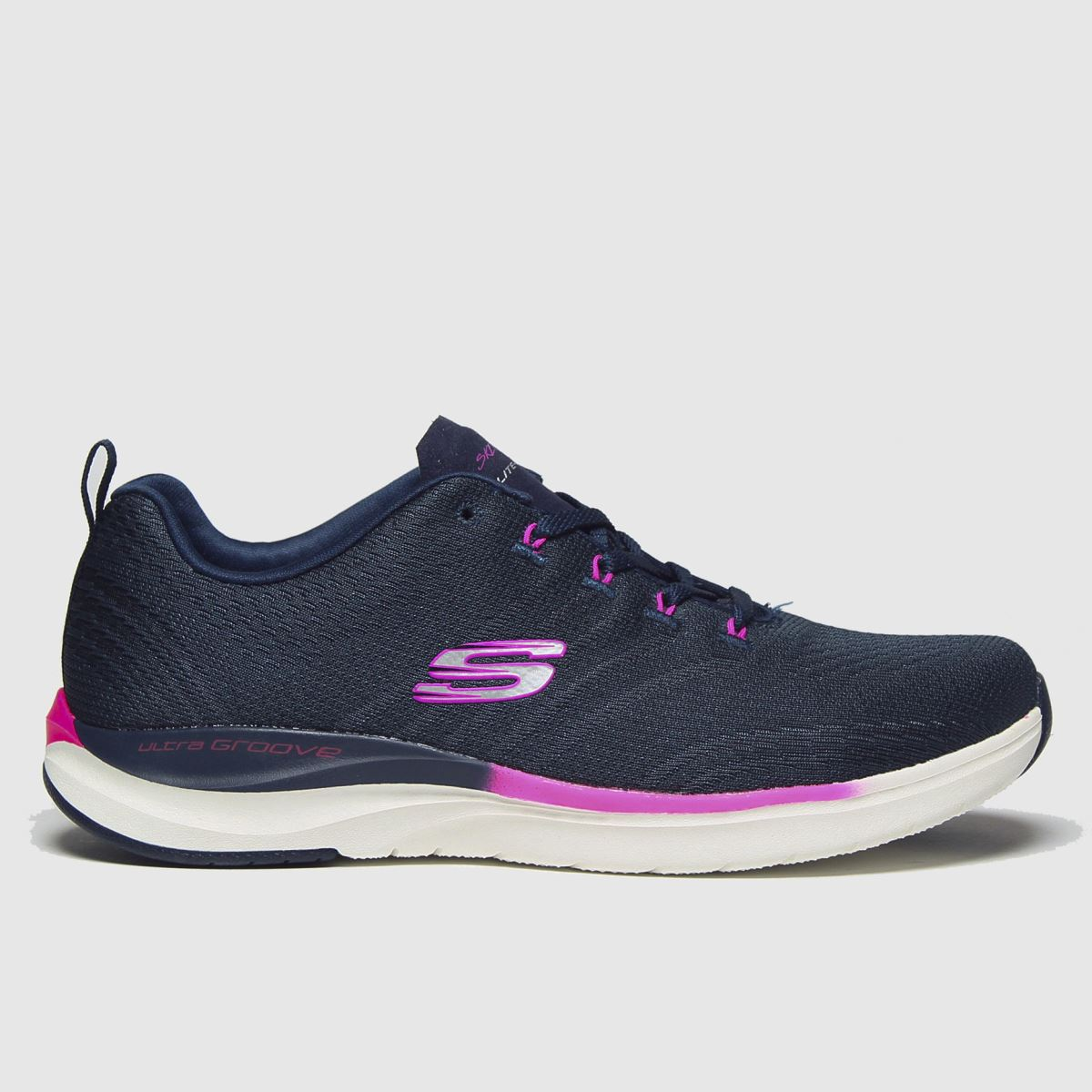 Skechers Navy Ultra Groove Pure Vision Trainers